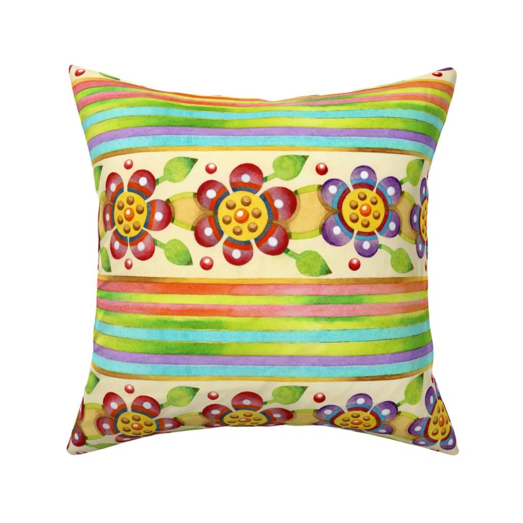 Catalan Throw Pillow featuring Parterre Botanique Floral by patriciasheadesigns