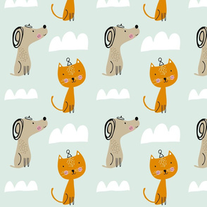 Cloudy cats and dogs
