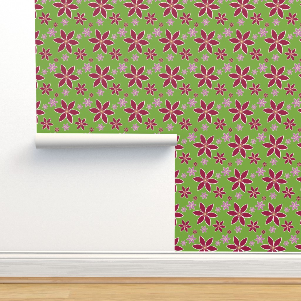 Isobar Durable Wallpaper featuring Clematis: Flowers by anniecdesigns