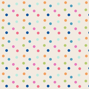 polka dots 420 - tropical on cream