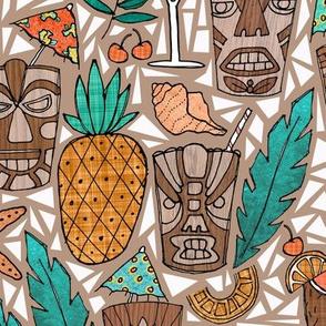 Tiki Cups & Beachy Drinks - Coral