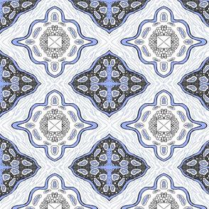 Medallion Waves- Blue