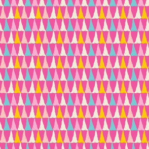 Candy slice - a playful bright multi colored geometric print