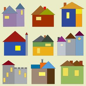 Storybook Houses Print