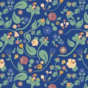 scandinavian paisley blue