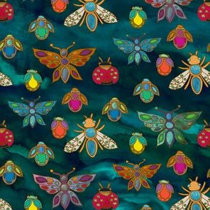 The Jewelled Beetles {Turquoise}