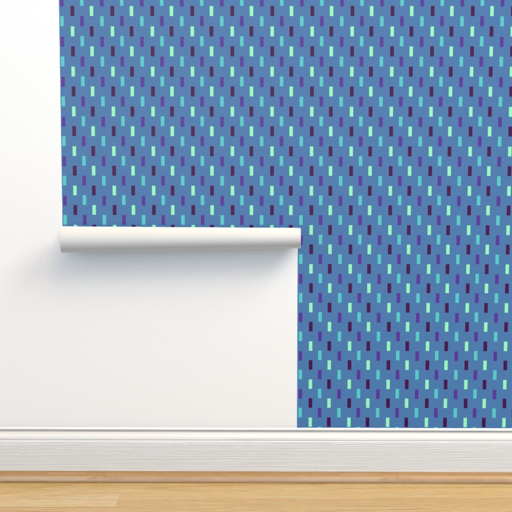 Isobar Durable Wallpaper featuring Indian Ocean Rectangles by Cheerul Madness!! by cheerfulmadness_cartoons
