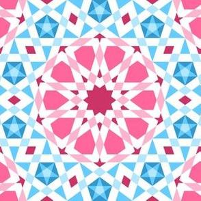 06524938 : UA5Vplus : pink + blue star mosaic