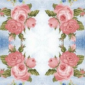 NR Fabrics Roses Mirrored