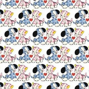 NR Fabrics Stuffed Doggie & Kitty