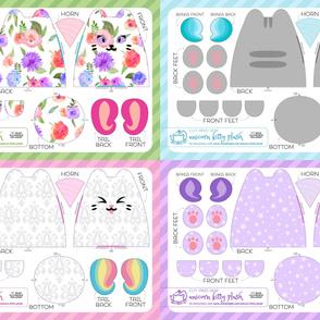 Cut & Sew Unicorn Kitty Plush Bundle