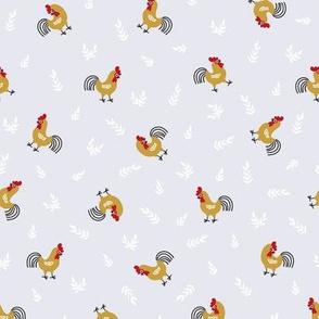 Funny cockerels