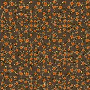 Forget Me Not, Professor (orange on brown)