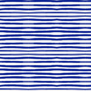 Watercolor stripes - cobalt pin stripes || by synny afternoon