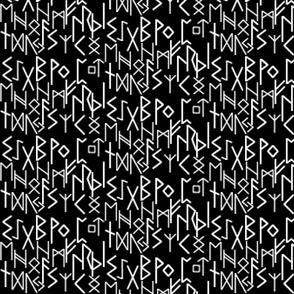 Runic Writing on black