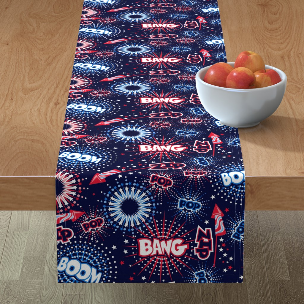 Minorca Table Runner featuring Fireworks with sound FX by cjldesigns
