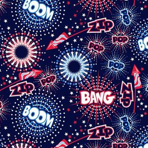 Fireworks with sound FX