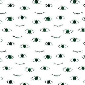 Green eyes, watercolor