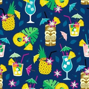 Hawaiian summer cocktail party