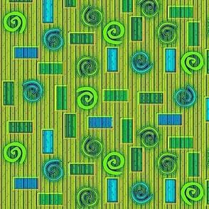 © 2011 Blocks and Swirls Bluegreens