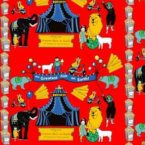 Circus kids in red by Salzanos