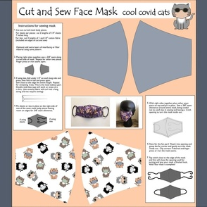 cut and sew face mask cool covid cats