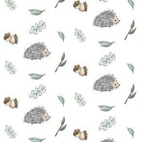 Hedgehog Snuggles - White
