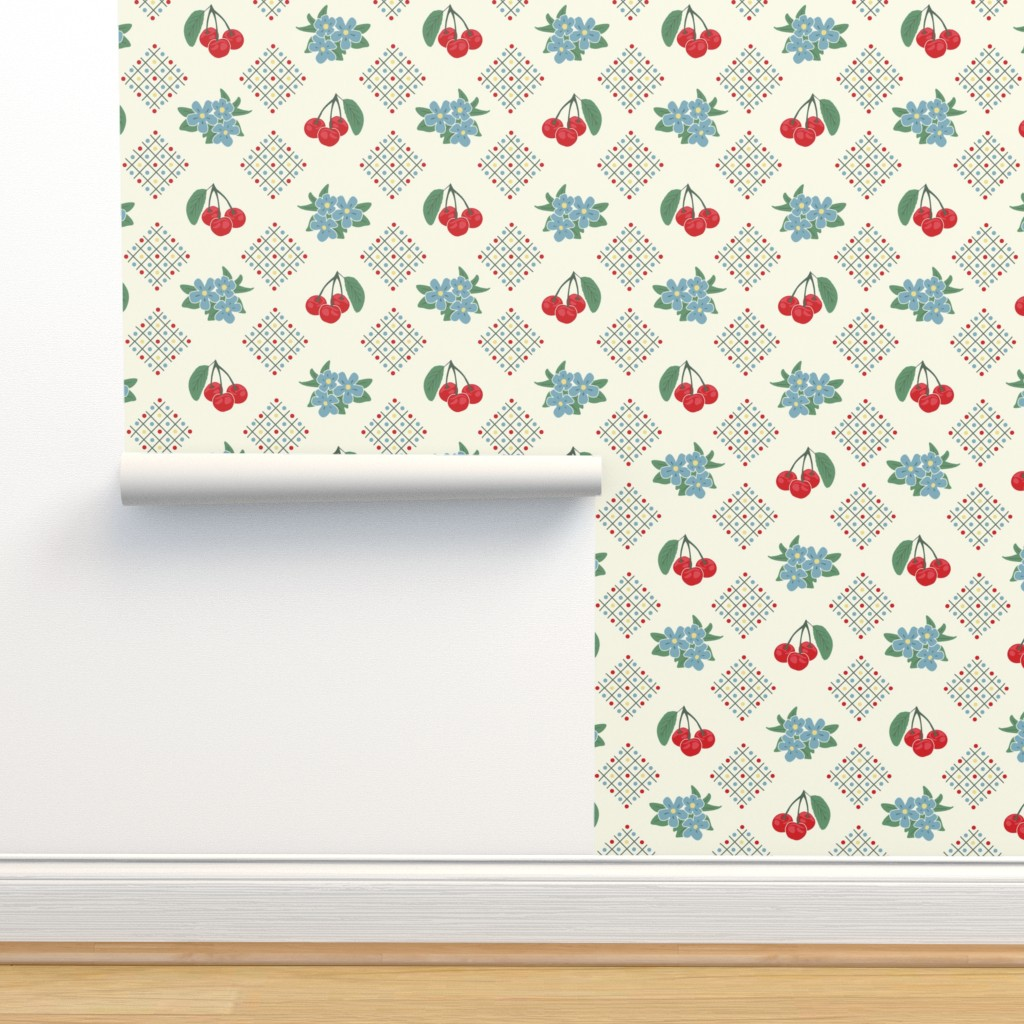 1940 S Style Kitchen Cherry Wallpaper In On Isobar By
