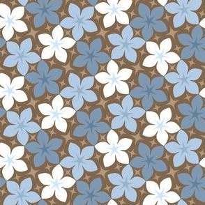06533933 : S43CVflora : faded blues + chocolate