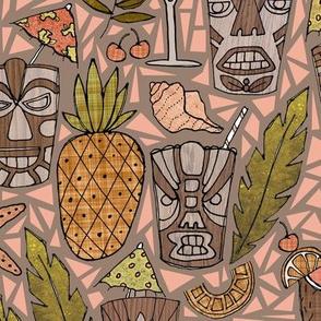 Tiki Cups & Beachy Drinks - Salmon