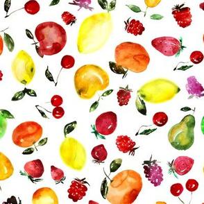 Tutti frutti watercolor