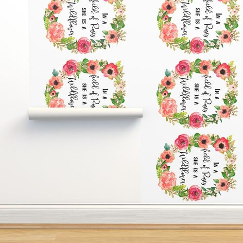 54 X36 Floral Dreams Wildflower Quote Spoonflower