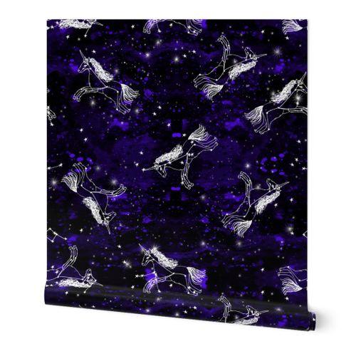 6535590 unicorn constellations fabric  galaxy pastel unicorn fabric trendy unicorn design constellation stars by andrea lauren