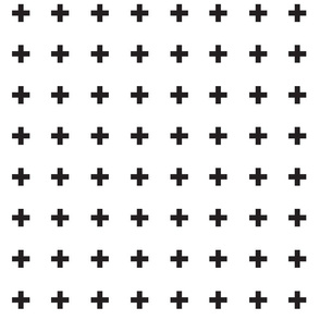 Swiss Crosses - White + Black Onyx