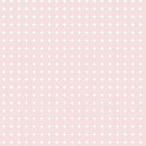 Swiss Crosses - Double Bubble Pink White