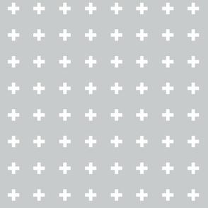 Swiss Crosses - Glacier Gray White