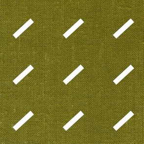 Dash Dash Linen . Mid-Century Olive