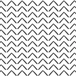 Woodblock Arrows - White/Black Onyx