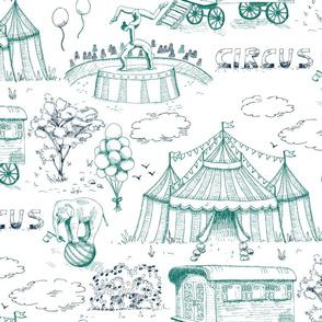 Toile de Jouy meets retro circus