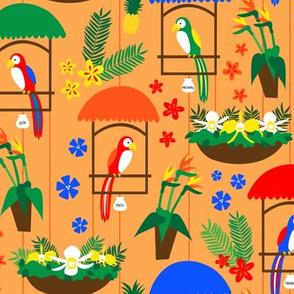 Tiki Room Birds - Smaller