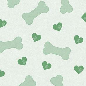 hearts and bones - green