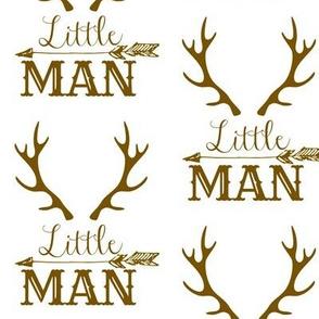 Little Man Arrow & Horns Brown