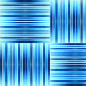 Blue Moon Stripes on White