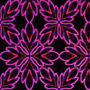 Neon_Bordered_Floral_Magenta_on_Black_Lg