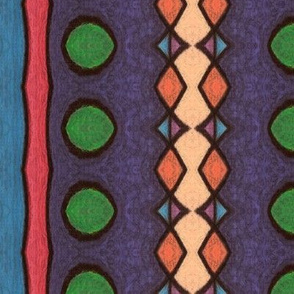 Pastels on Black - Geo Stripe