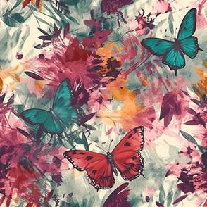 Butterflies in Australian Flora Colors