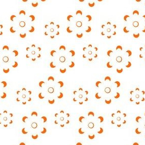 Court & Spark - Scandi Floral Cutout Orange on White
