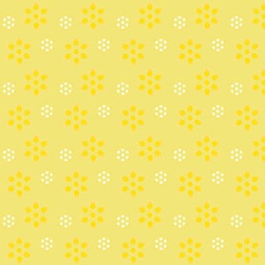 Court & Spark - Scandi Flowers Pale Lemon