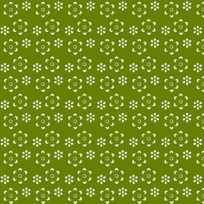 Court & Spark - Scandi Floral Cutout White on Olive