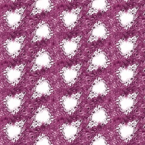 Victorian Wedding hearts  mauve pink